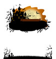 halloween party invitation with dracula castle vector image vector image