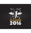 Happy Halloween 2016 Poster Trick or treat vector image vector image