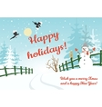 Happy holidays card vector image