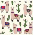 happy llamas vector image vector image