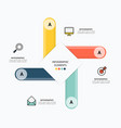 icons and infographic elements design vector image vector image