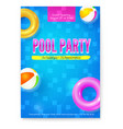 invitation on summer party in swimming pool vector image vector image