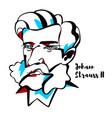 johann strauss ii portrait vector image vector image