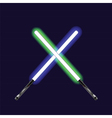 light sabers vector image vector image