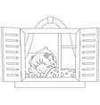 little girl sleeping vector image