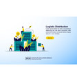 logistic distribution concept with icon and vector image vector image