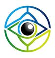 Logo Rainbow Eye Glossy Bussines Design Icon vector image