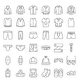 male clothes and accessories thin line icon set 2 vector image vector image