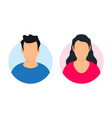 man and woman avatar profile vector image