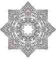 mandala with hand drawn floral henna elements vector image vector image