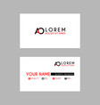 modern creative business card template with ao vector image vector image