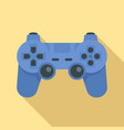 modern gamepad icon flat style vector image vector image