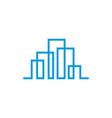 modern line art city logo template city skyline vector image vector image