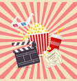 movie and film elements in flat design vector image vector image