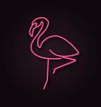 neon flamingo vector image vector image