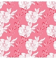 Pink Red Diagonal Oriental Peonies Seamless vector image