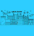 poland lublin winter holidays skyline merry vector image vector image
