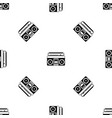 recorder pattern seamless black vector image vector image