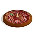 Roulette wheel 3d image Realistic casino vector image