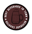 Round Beverage Coaster Black vector image