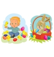 Set clip art with young children on vector image vector image