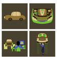 set mechanical services of car vector image vector image