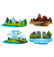 set of different nature landscape vector image
