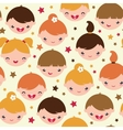 Smiling children seamless pattern background vector image
