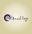 snail ideas design on background vector image vector image