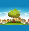 spring city landscape vector image vector image