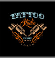 tattoo studio logo estd 1987 retro styled emblem vector image vector image