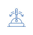 toggle switch line icon concept toggle switch vector image