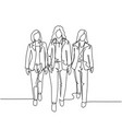 urban commuter workers concept one continuous vector image