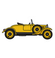 Vintage yellow roadster vector image vector image