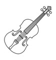 violin of black contour curves on white vector image