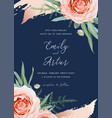 wedding invite card floral design flower rose vector image vector image
