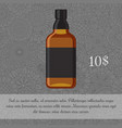 Whiskey alcoholic beverage card template