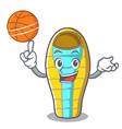 with basketball sleeping bad character cartoon vector image
