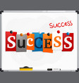 Word success made from newspaper letters vector image
