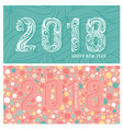 2018 new year banners with stylized numbers vector image vector image