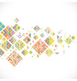 abstract colorful geometrical template vector image vector image