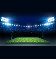 american football arena field with bright stadium vector image