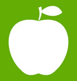 apple icon green vector image vector image