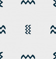 Aquarius sign Seamless pattern with geometric vector image vector image