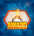 award golden number one on light festive stage vector image