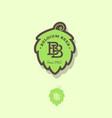 belgian beer logo vector image vector image