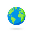 blue and green earth globe vector image vector image