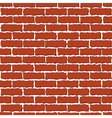 brown brick wall vector image vector image