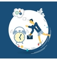 businessman wakes up in the morning alarm clock vector image vector image