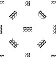 chairs pattern seamless black vector image vector image
